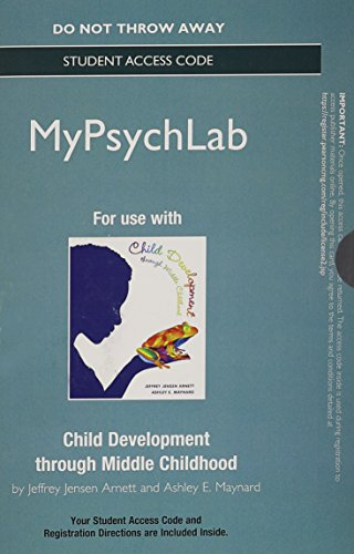 NEW MyLab Psychology  without Pearson eText -- Standalone Access Card -- for Child Development through Middle Childhood: