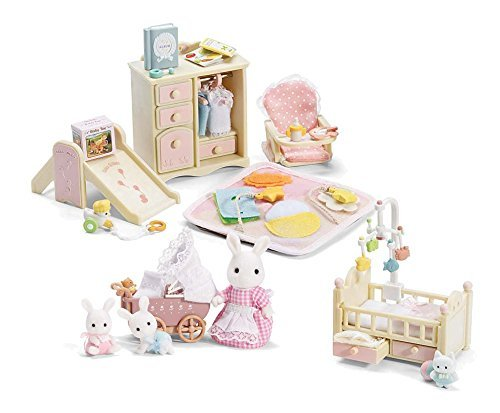 Calico Critters Baby's Nursery Set and A Carriage Ride Play Set