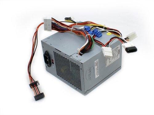 Genuine Dell 305w Power Supply PSU for Dimension 3100, E310, 5000, 5100, E510, 5150, E520, E521, and OptiPlex Towers GX320, GX520, GX620. Dell part numbers: W8185, M8802, M8805, M8806, X8129, C9962, YH542, C5201, D5032, MC164, CX305N-00, L305N-00