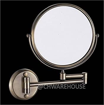 Amazon Com Nickel 8 Magnifying Mirror For Bath Wall Mounted