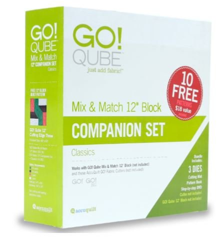 AccuQuilt GO! Qube (Cube) 12 Inch Companion Die Set 55782 by AccuQuilt