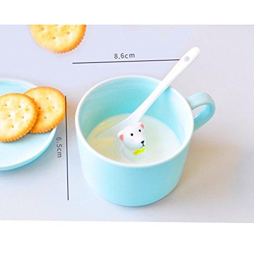 ZaH 300ml 3D Animal Cup Morning Mug, White Rabbit by ZaH (Image #4)