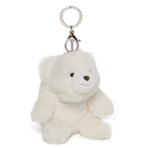 GUND Snuffles Teddy Bear Stuffed Plush Keychain White ()