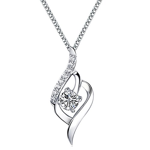 Pendant Sterling Crystal Zirconia Necklace