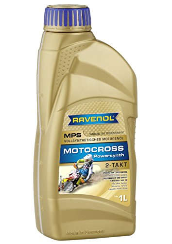 (Ravenol J1V1100 2-Stroke Motorcycle Oil - MPS Motocross Powersynth Full Synthetic API TC (1 Liter))