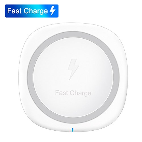 iPhone X Wireless Charger, QI Fast Wireless Charging Pad for Samsung Galaxy S8 Note 8 S8 Plus S7 5 S6 Edge Plus , Apple iPhone 8/ 8 Plus,Nexus 4/5/6/7 and All Qi-Enabled Devices [No AC Adapter]