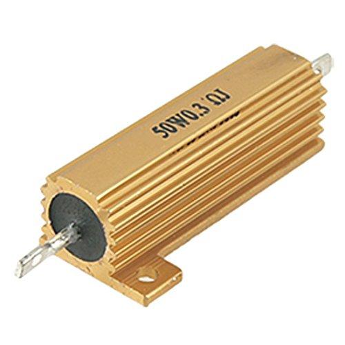 TOOGOO(R) 2 Pcs 50 Watt Power 5% 0.3 Ohm Resistance Value Aluminum Resistors