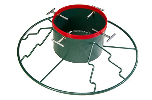 Yard Butler Santa's Helper Christmas Tree Stand 6'-11', Green