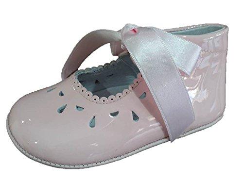 INDICE 1594 - Zapatos bebé niña piel piel charol Rosa