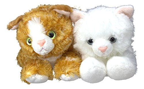 "Bundle of 2 Aurora Plush Cats - 8"" Molly and Sugar Too"