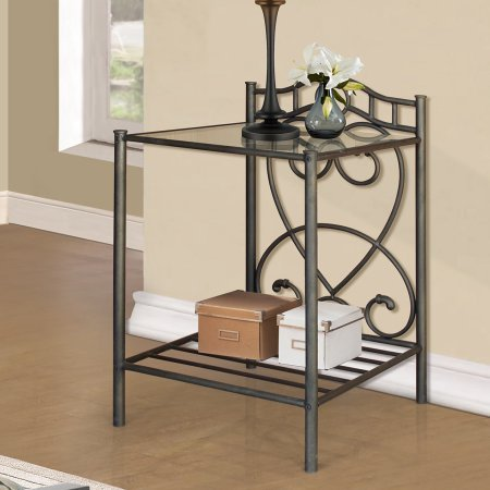 Home Source Bronze Night Stand by Home Source
