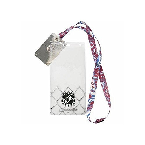 That's My Ticket LANHKYCOLR NHL Reversible Lanyard - Colorado Avalanche