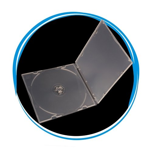 5.2mm Slim PP Poly CD/DVD Case Single Disc Super Clear With Sleeve - 200 ()