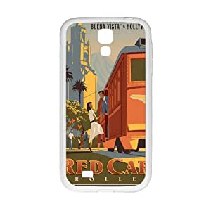 Happy Red Car Trolley Cell Phone Case for Samsung Galaxy S4