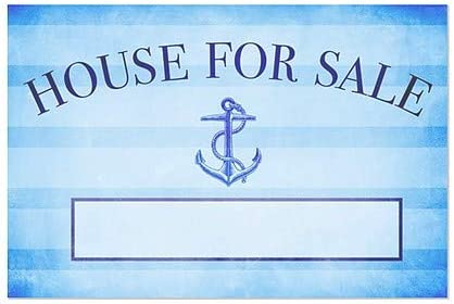 CGSignLab 30x20 Nautical Stripes Window Cling 5-Pack House for Sale