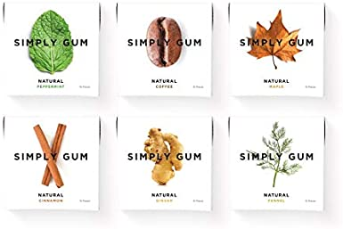 Simply Gum | Surtido de Chicle de Menta, Canela, Jengibre, Hinojo ...