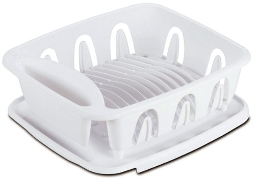 Sterilite 06368004 White Small Ultra Sink Set, (2 Piece)