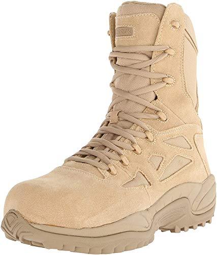 Reebok Work Men's Rapid Response RB8894 Safety Boot,Tan,7 W US
