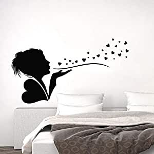 Wall decal silhouette spirit of love water resistant material
