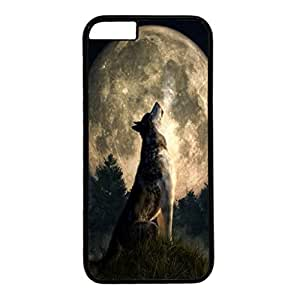 iPhone 6 Plus Case,Fashion Durable Black Side DIY design for Apple iPhone 6 Plus(5.5 inch),PC material iPhone 6 Plus Cover ,Safeguard Phone from Damage ,Designed Specially Pattern from our Life with Howling Wolf in the Full Moon. by mcsharks