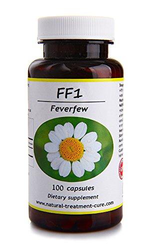 Hekma Center Pure Feverfew - Tanacetum Parthenium - 100 Capsules Great Tonic for The Immune System - Vegan ()