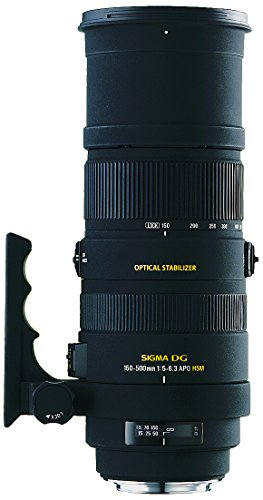 Sigma 150-500mm f/5-6.3 Auto Focus APO DG OS HSM Telephoto Zoom Lens for Canon Digital SLR Cameras