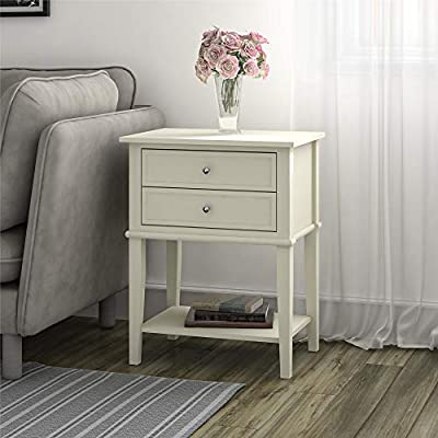 White) - Altra Furniture Franklin Accent Table with Two Drawers