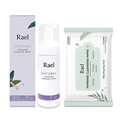 Rael Value Package - Rael Natural Feminine Cleansing Wash 1 Pack and Feminine Wipes 1 Pack