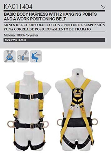 - Fall Protection - Full Body Harness with 2 Hanging Points and a Work Positioning Belt