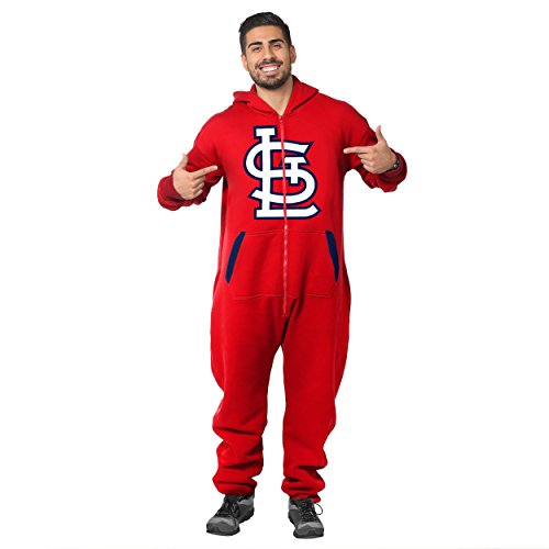 St. Louis Cardinals Team Logo Klew Suit - Red - Extra Large