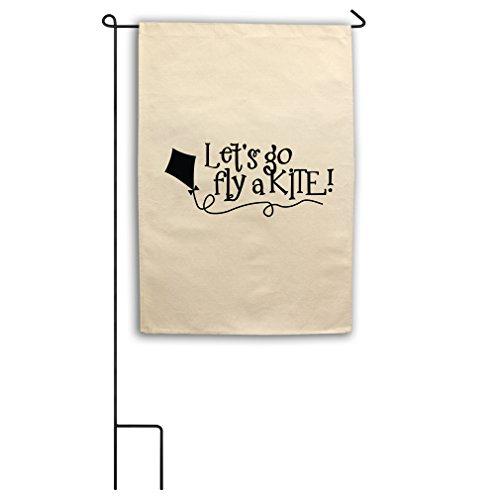 Fly Kite Go Flag A (Style in Print Let'S Go Fly A Kite Canvas Yard House Garden Flag 18