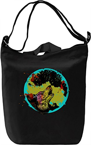 Wolf Yowl Borsa Giornaliera Canvas Canvas Day Bag| 100% Premium Cotton Canvas| DTG Printing|