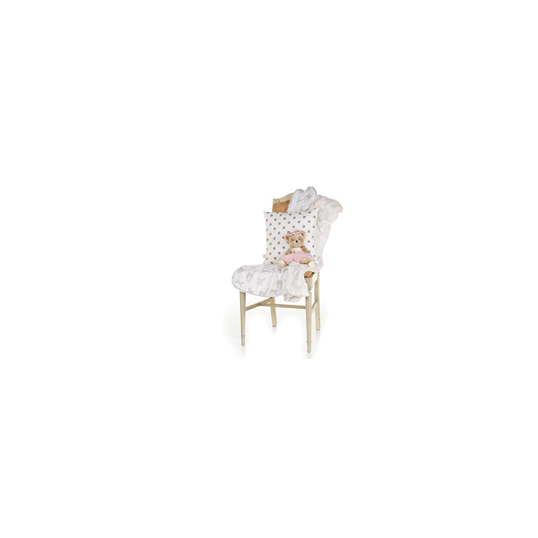 Glenna Jean Forest Friends Pillow-Grey Dot, White Cream Pink Ivory, Standard