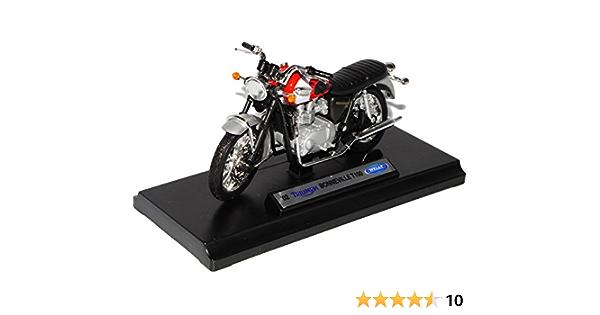 Welly 1//18 Triumph Bonneville 2002 scale motorcycle model Diecast Toy retro bike