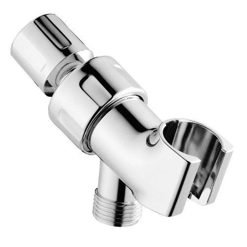 Topzone® Universal Showering Components Adjustable Shower Head Holder Shower Arm Mount (Chrome)