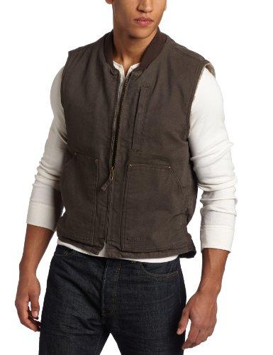 Key Apparel Men's Berber Lined Duck Vest, Bark, XX-Large Berber Apparel