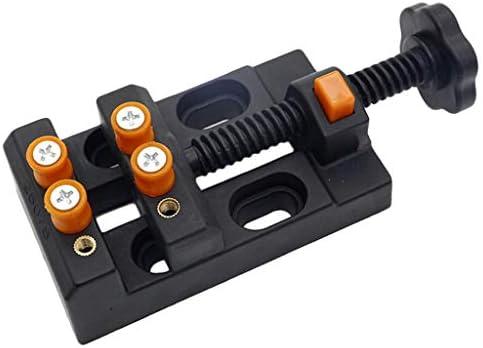 P Prettyia バイス 万力 ドリルプレス バイスクランプ ベンチバイス ハンドヘルド 0-2.2インチ適用 全2カラー - オレンジブラック