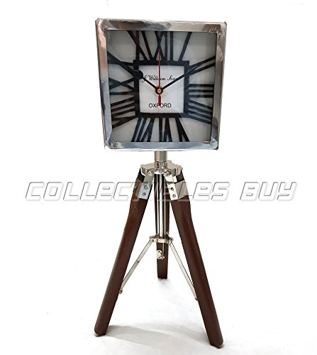 Collectibles Buy Brown Tripod Handmade Clock Nautical WILLIAM SONS OXFORD Royal Vintage Table Top Tripod Clock Gift Item