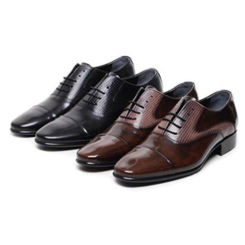 Epicstep Heren Echt Leer Modieuze Kleding Formele Business Casual Schoenen Oxford Loafers Bruin Laceup