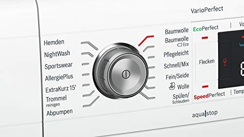 Bosch WAW28570 Serie 8 Waschmaschine Frontlader / A+++ / 196 kWh/Jahr / 1360 UpM / 8 kg / Weiß / Fleckenautomatik / Trommelreinigung mit Erinnerungsfunktion 4