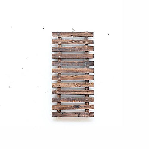 (WSSF- Solid Wood Wall Flower Rack Indoor & Outdoor Courtyard Balcony Fence Grid Climb Rattan Shelf Wall Hanging Flower Pot Shelf Carbonized Plant Baskets Display Stands (Size : 2960cm) )