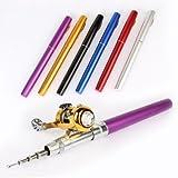 1.4M Pocket Pen Fishing Rod Mini Telescopic Portable Fishing Rods With Drum Fishing Reel