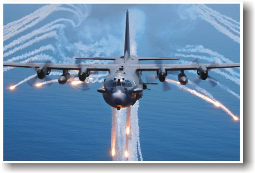 AC-130H Spectre Aircraft - NEW Military Us Air Force Poster