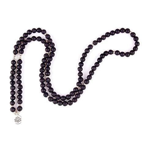 GVUSMIL 8mm Mala Beads Lava Rock Wrap Bracelet Essential Oil Diffuser Bracelet - Onyx Stone Meaning