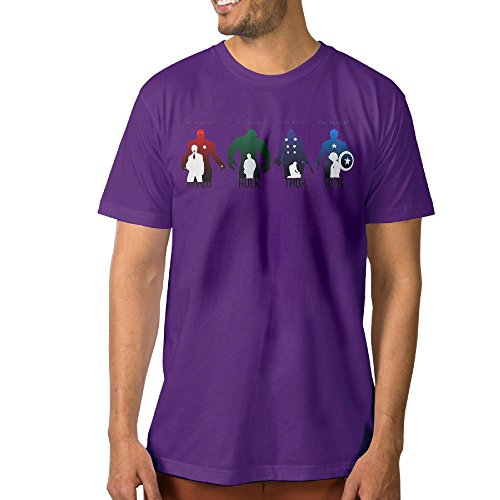 Designed Men's Tee Iron Giant Thunder Union M Purple