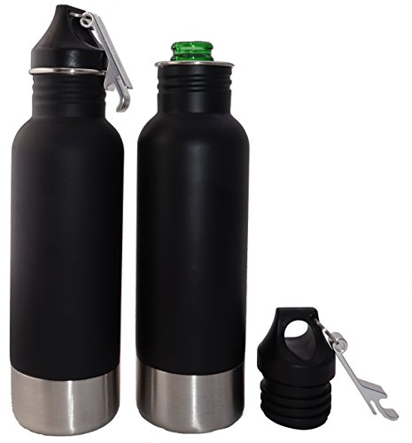 Craft Connections Stainless Steel Bottle Insulator with Bottle Opener. Great Accessory for Beer, Cider, and Soda Bottles - 2 Pack Set (Beer Bottle Opener Set compare prices)