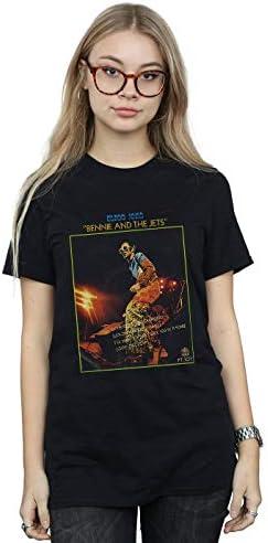 Elton John damska koszulka Bennie and The Jets Boyfriend Fit - m: Odzież