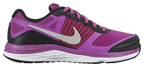 Nike Dual Fusion X (Gs), Zapatillas de Running Para Niñas Negro / Plateado / Morado (Black / Metallic Silver-Vvd Prpl)