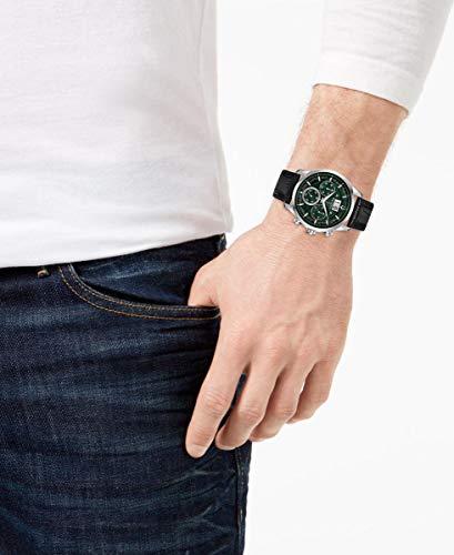 Bulova herr kronograf kvartsklocka med läderrem 96B310