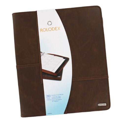 Explorer Collection - Rolodex Explorer Collection Business Card Book, 240-Card, Brown (22337)